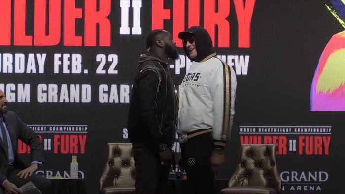 Fury and Wilder get physical at final pre-fight press conference