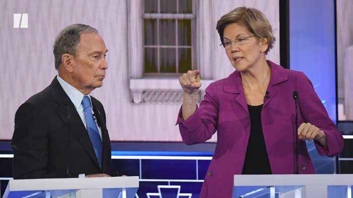 Elizabeth Warren Goes After Mike Bloomberg