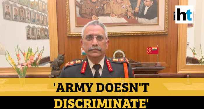'Army doesn't discriminate soldiers based on religion, gender': Gen Naravane
