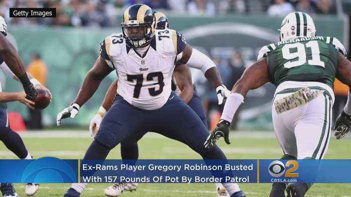Ex-Rams Player Gregory Robinson Busted With 157 Pounds Of Pot After Renting Car In LA, Driving To Texas