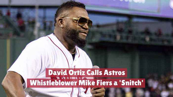David Ortiz And A 'Snitch'