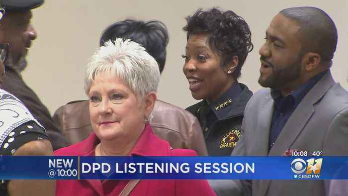 Police Chief Renee Hall Addresses Residents In Dallas' Most Violent District