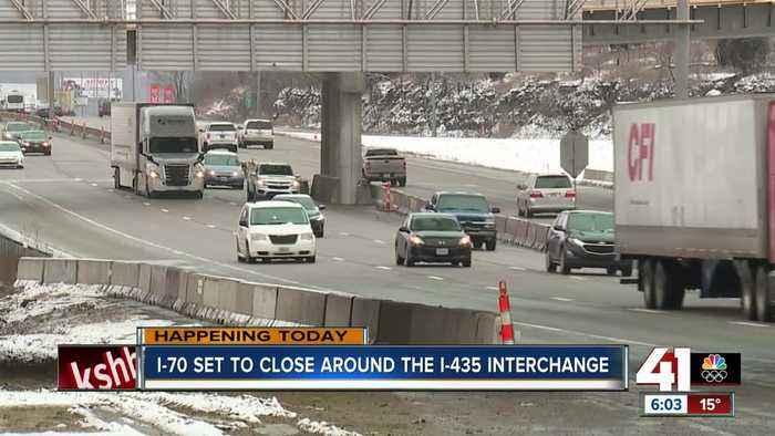 I-70 set to close around the I-435 interchange
