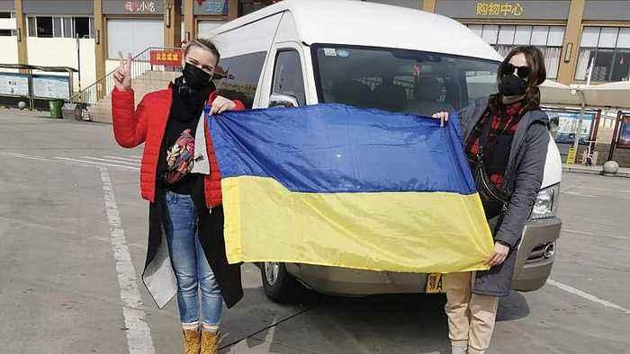 Ukrainians protest over having COVID-19 coronavirus evacuees in their region
