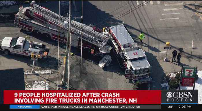 9 Hurt After Fire Trucks, Pick Up Truck Collide In Manchester NH