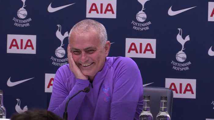 Jose Mourinho gets the giggles when asked about Harry Kane