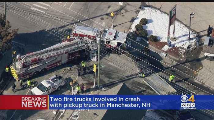 Manchester, NH Firefighters Injured After Trucks Crash