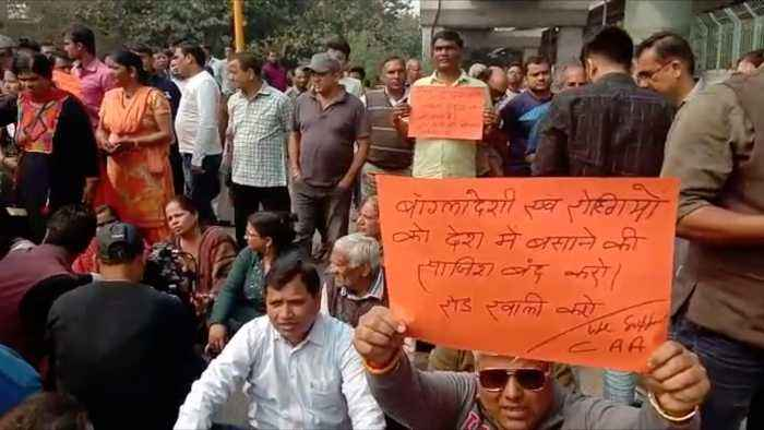Parallel protest taken out against Shaheen Bagh, seeking opening of key road