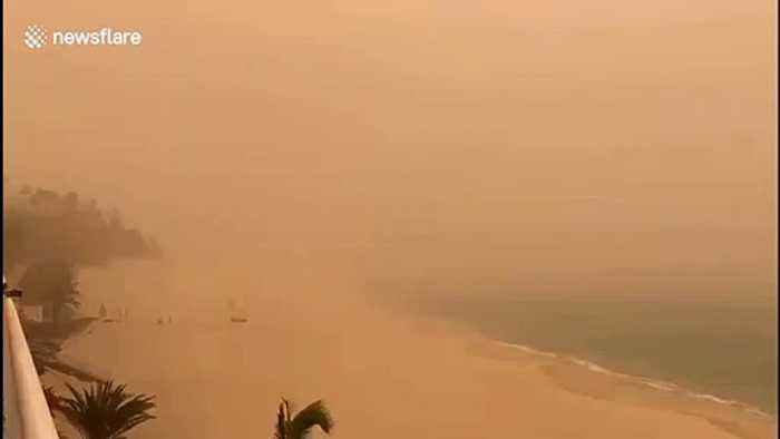 Sandstorm hits Canary Islands in Spain grounding flights