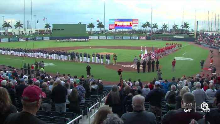 First spring training game between Astros and Nationals held in West Palm Beach
