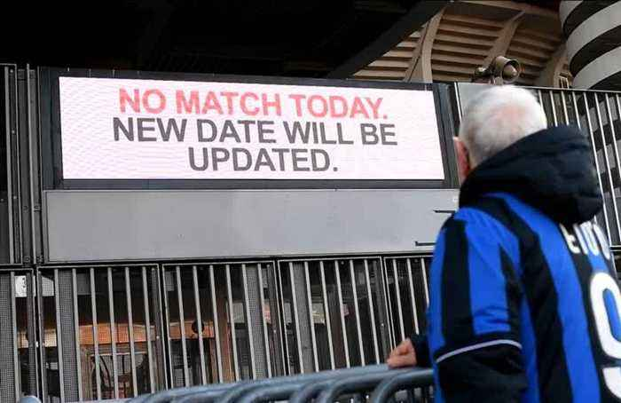 Serie A matches among sports fixtures cancelled in Italy after coronavirus outbreak