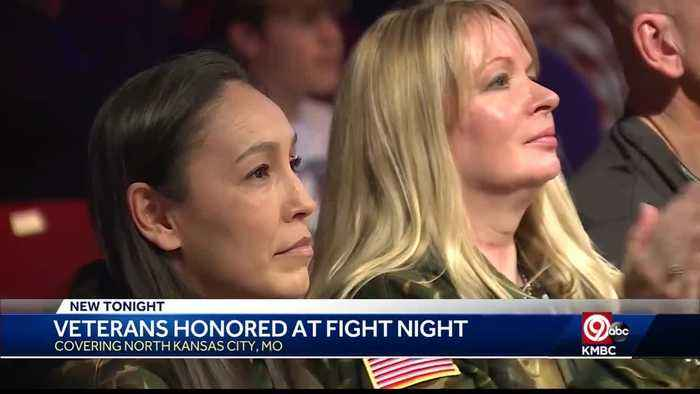 Highly decorated Army Reserve Soldiers Honored at Fight Night