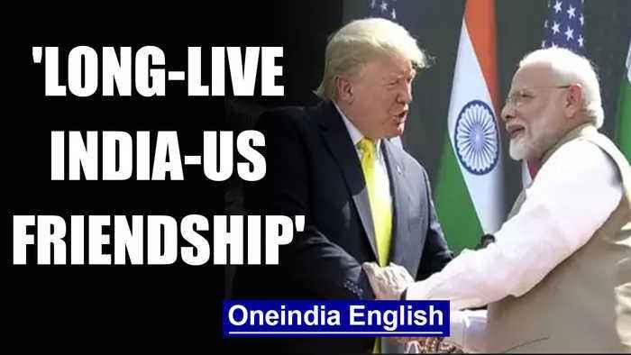 Namaste Trump: PM Modi's warm welcome for President at Motera stadium | Oneindia News
