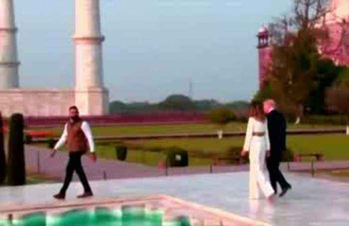 Trump family visits the Taj Mahal