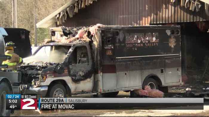MOVAC ambulances destroyed in fire