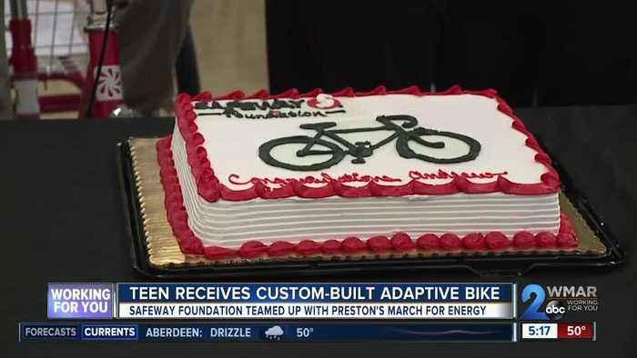Teen Receives Custom Built Adaptive Bike From One News