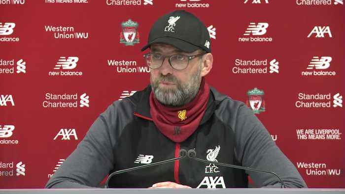 Jürgen Klopp reacts to hard fought victory against West Ham