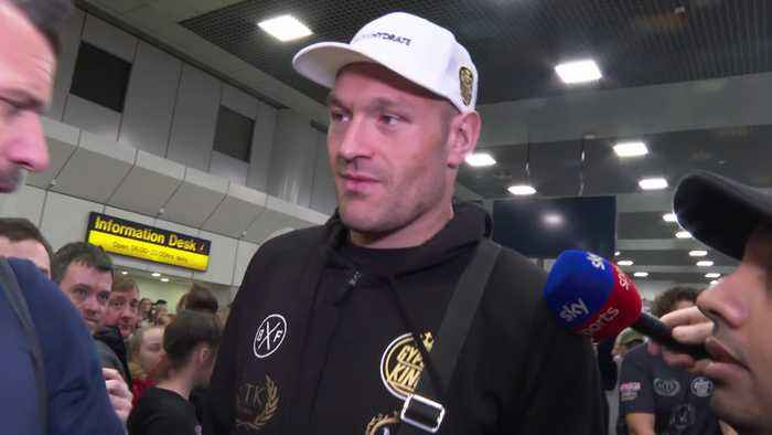 Tyson Fury returns to UK after famous victory in Las Vegas