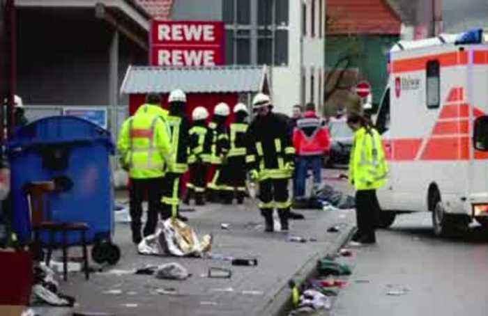 Dozens hurt as car plows into German carnival