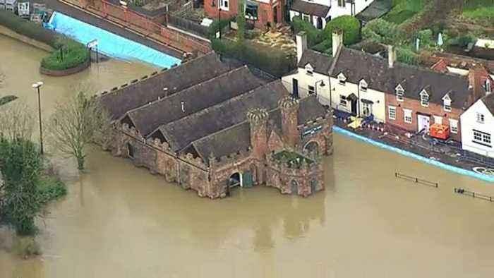 Homes evacuated along the River Severn