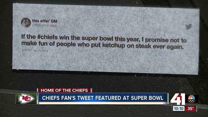 Chiefs fan's tweet featured at Super Bowl LIV