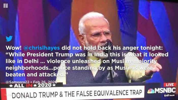 How International Media Covered Trump's India Visit During Riots In Delhi