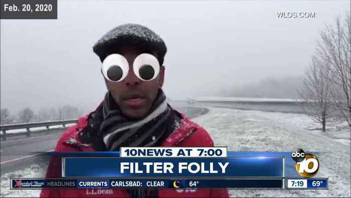 Anchor does live report with wacky filter on?