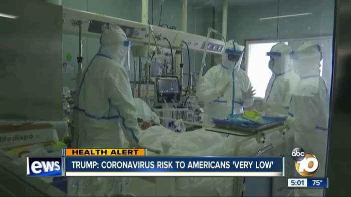 Trump: Coronavirus risk to Americans 'very low'