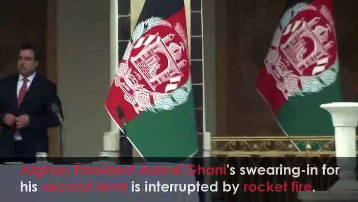 Afghan President's swearing-in interrupted by rocket attack