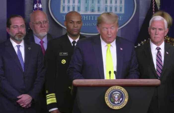 Trump calls for economic relief to coronavirus