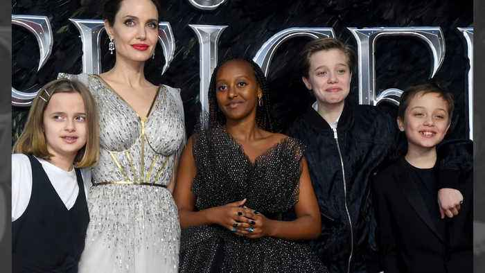 Angelina Jolie praises girl power as daughters recover from surgeries