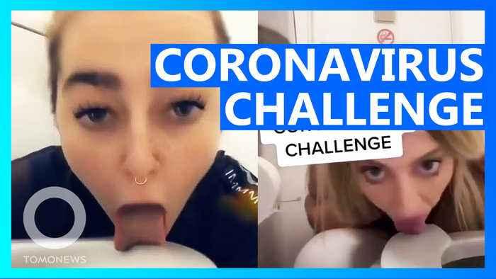 Girl licks toilet seat in Coronavirus Challenge