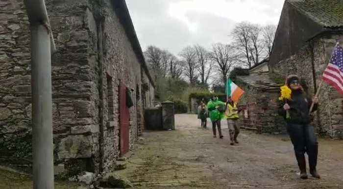 Family Does Small-Scale St. Patrick's Day Parade During Coronavirus Lockdown