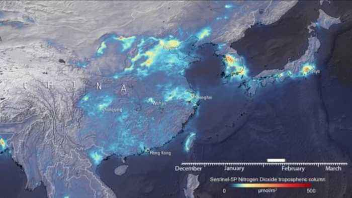 Satellite Images Show Stark Dropoff in Pollution Over China During Coronavirus Lockdown