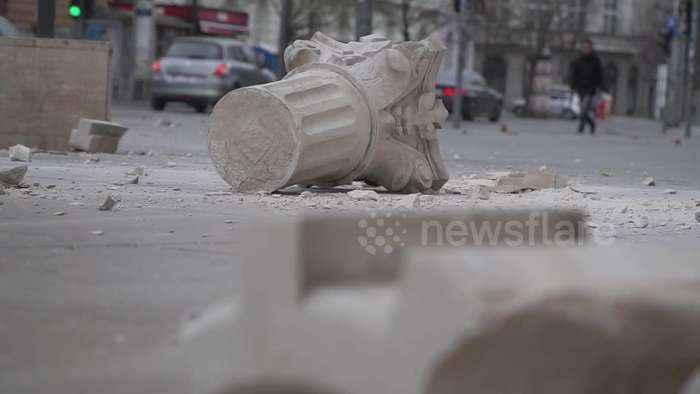 Zagreb hit by terrifying earthquake while under coronavirus lockdown