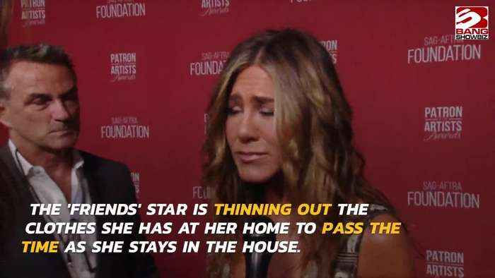 Jennifer Aniston is 'cleaning out her closet' whilst she is in self-isolation