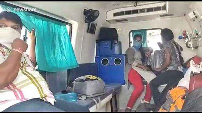 Ambulance caught smuggling passengers across state borders amid India lockdown