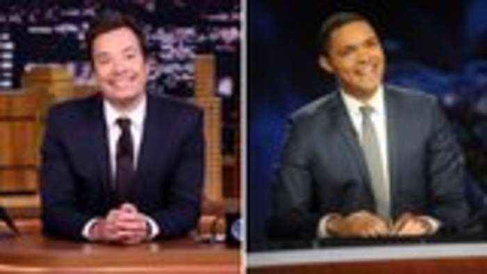 Jimmy Fallon Virtually Interviews Trevor Noah On Hosting Late-Night TV During Coronavirus | THR News
