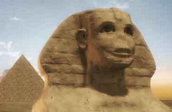 Equinox sunset aligns with Sphinx