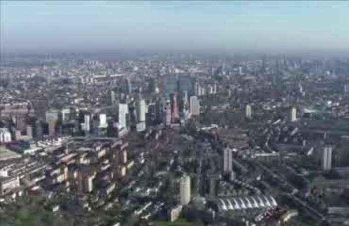 A bird's eye view of London in lockdown