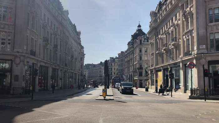 London's Oxford Street deserted after UK lockdown