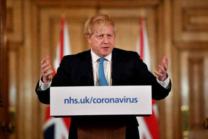 Boris Johnson Issues Stay-At-Home Order for UK