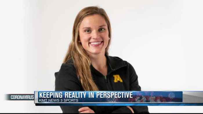 Minnesota swimmer keeps reality in perspective