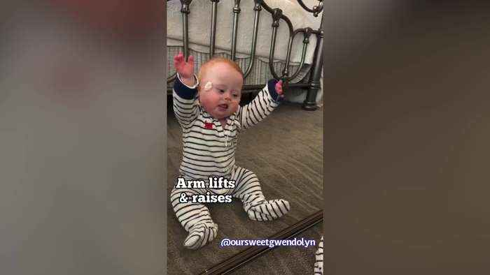 This adorable baby has got a new workout routine for you