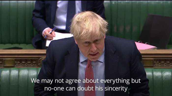 Boris Johnson pays tribute to Corbyn on his final PMQs as Labour leader