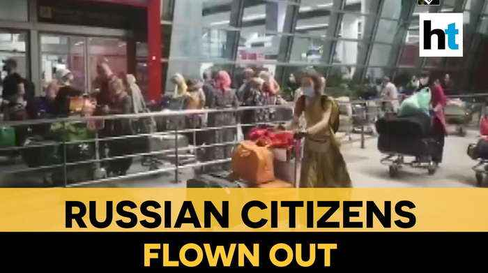 Coronavirus: Stranded Russian nationals transported from India