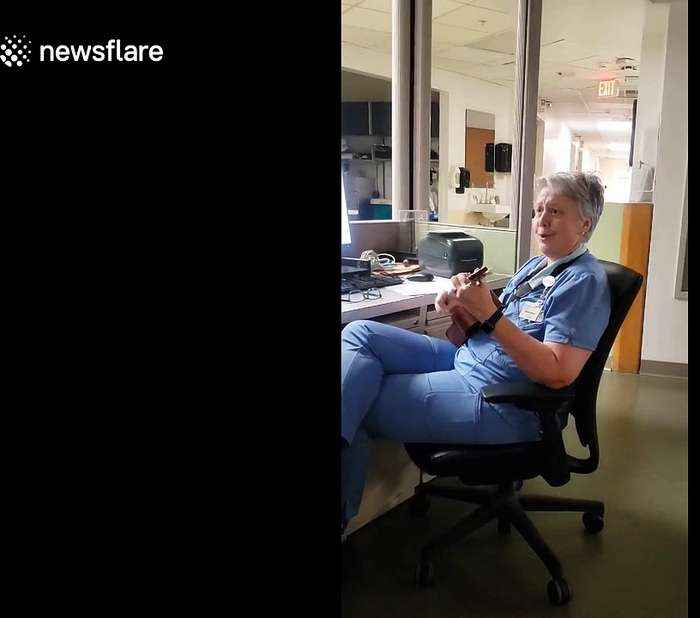 Florida nurse sings song about COVID-19 on ukulele to boost team morale
