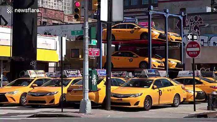 Dozens of taxis left in parking lots as New York shuts all non-essential businesses