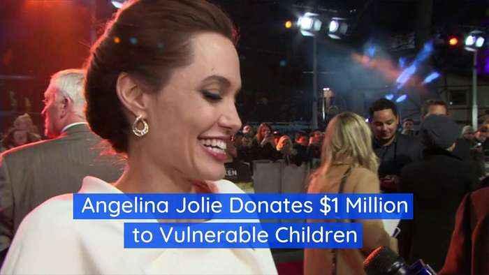 Angelina Jolie Donates $1 Million to Vulnerable Children