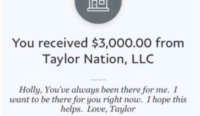Taylor Swift and Ariana Grande sending money to struggling fans during coronavirus crisis